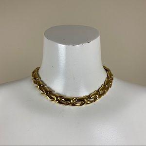 Vintage Goldtone Link Choker Style Necklace
